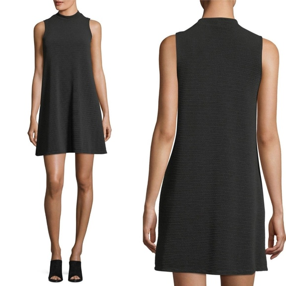 Tiana B. Dresses & Skirts - NEW Tiana B Black Textured Knit Trapeze Dress